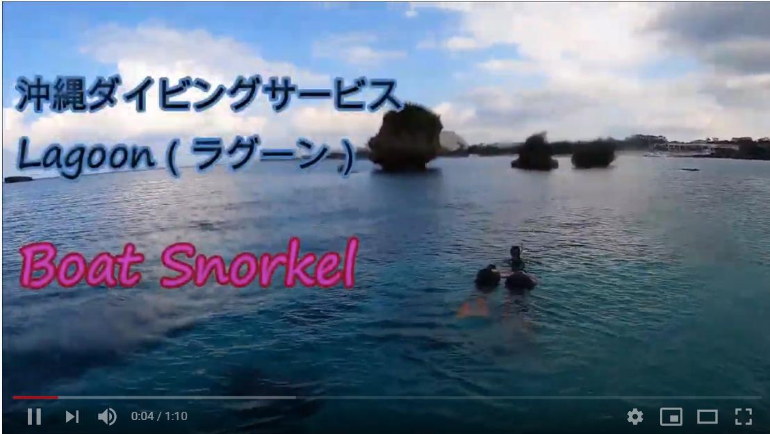 ボートシュノーケル(サンゴ畑/万座毛洞窟)