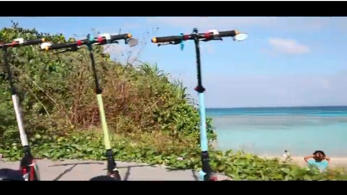 (日本初‼︎)電動キックボードで恩納村発見プラン